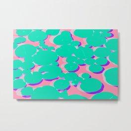 Lotus Pond Bubble Gum Punch Metal Print