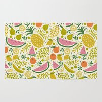 fruit Area & Throw Rugs featuring Fruit Mix by Anna Deegan