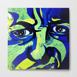 My emotive face in the spring Metal Print