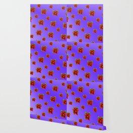 Red Flowers Pattern 3 Wallpaper