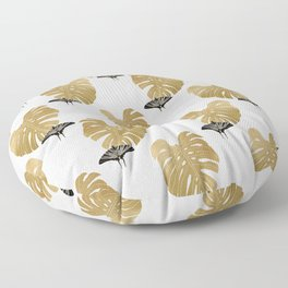 Botanical, Butterfly & Monstera Floor Pillow