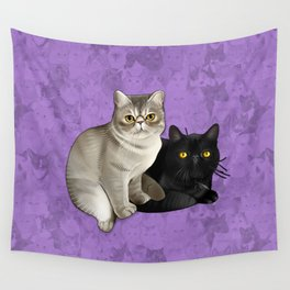 Trixie and Monty Wall Tapestry