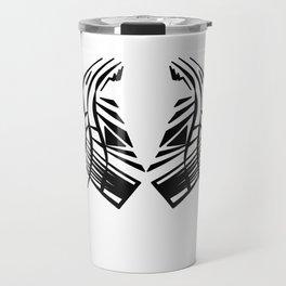 aztecs black white BW exotic element Travel Mug