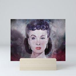 Vivien Leigh as Scarlett O'Hara Watercolor  Mini Art Print