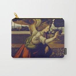 """Leonardo da Vinci """"Annunciation 1. (Archangel Gabriel)"""" Carry-All Pouch"""