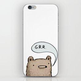 Growling Bear iPhone Skin