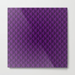 Purple Dragon Scales Metal Print