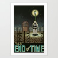 chrono trigger Art Prints featuring Chrono Trigger End of Time Travel Poster by The Retro Videogamers