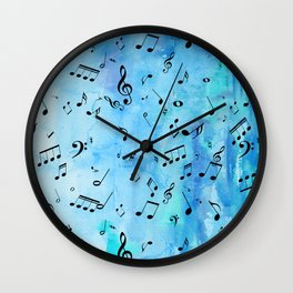 More Blue Music Wall Clock