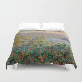 "Claude Monet ""Flower Beds at Vétheuil"" Duvet Cover"