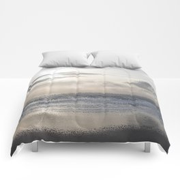 Silver Scene ~ Ocean Ripple Effect Comforters
