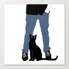 me and my cat  Canvas Print