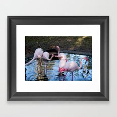 Just a little Kiss Framed Art Print