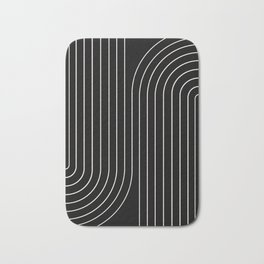 Minimal Line Curvature - Black and White II Bath Mat