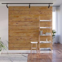 Barn Wall Made of Old Wooden Planks - Brown Wall Mural