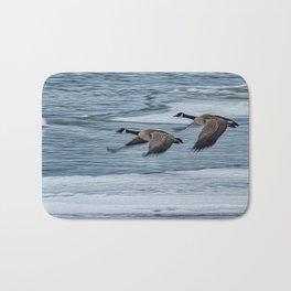 Canada Geese Flying X Bath Mat