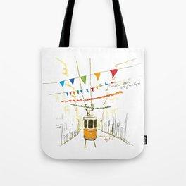Lisbon Aquarelle No.4 Tote Bag
