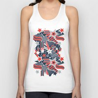 patriotic Tank Tops featuring Patriotic Pattern by Aron Gelineau