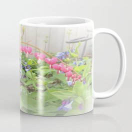 Floral Fantasy Bleeding Hearts and Bluebells Coffee Mug