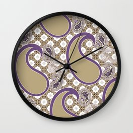 Chain 'em in Purp Wall Clock