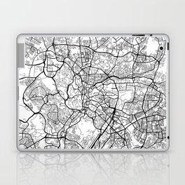 Kuala Lumpur Map, Malaysia - Black and White Laptop & iPad Skin