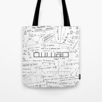 engineer Tote Bags featuring white engineer by Be Raza