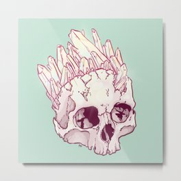 Skull No.2 // The Cristallized One Metal Print