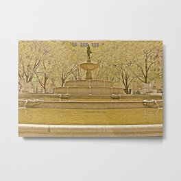 Pulitzer Fountain, NYC Metal Print