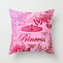 Flutterby Princess Throw Pillow