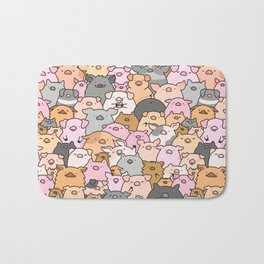 Pigs, Piglets & A Swine! Bath Mat