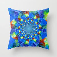 kaleidoscope Throw Pillows featuring Kaleidoscope  by haroulita