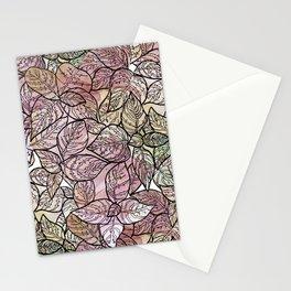 color leaf Stationery Cards