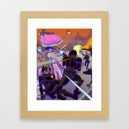 Confrontation in Cumbres Omega-Sector Framed Art Print