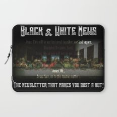 The Black & White Last Supper Laptop Sleeve