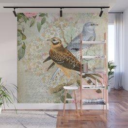 Vintage birds Wall Mural
