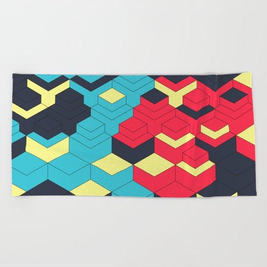 Two Sides A + B Beach Towel