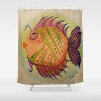 potter Shower Curtains featuring MRS. POTTER by Caribbean Critters Co.