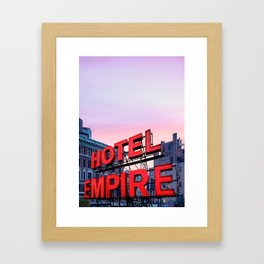 Hotel Empire Framed Art Print