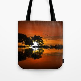Guitarscape Sunset Tote Bag