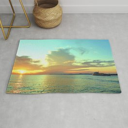 Sunset on Lake Constance Rug