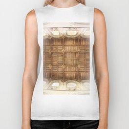 Wooden church ceiling  Biker Tank