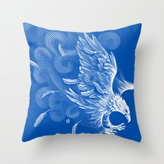 Windy Wings Throw Pillow