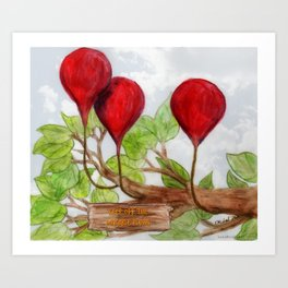 Magical Plums Art Print