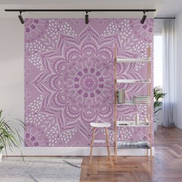 Purple, Lilac and White Mandala Wall Mural