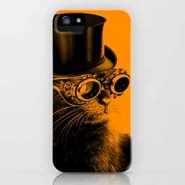 Steampunk Mojo in a top Hat iPhone Case