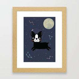 Boston Terrier In Space Framed Art Print