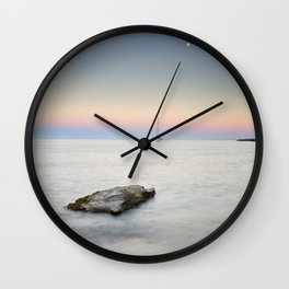 """SuperMoon At Plomo Beach"" Wall Clock"