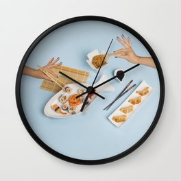 Sushi for one Wall Clock