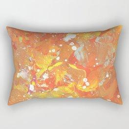 Orange Galaxy Fire Rectangular Pillow