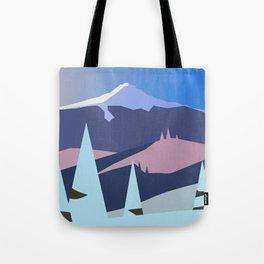 Mount Hood Wintersun Tote Bag